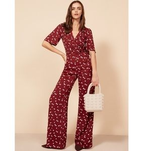 HOLD Alice Jumpsuit Red Floral Romper Pants